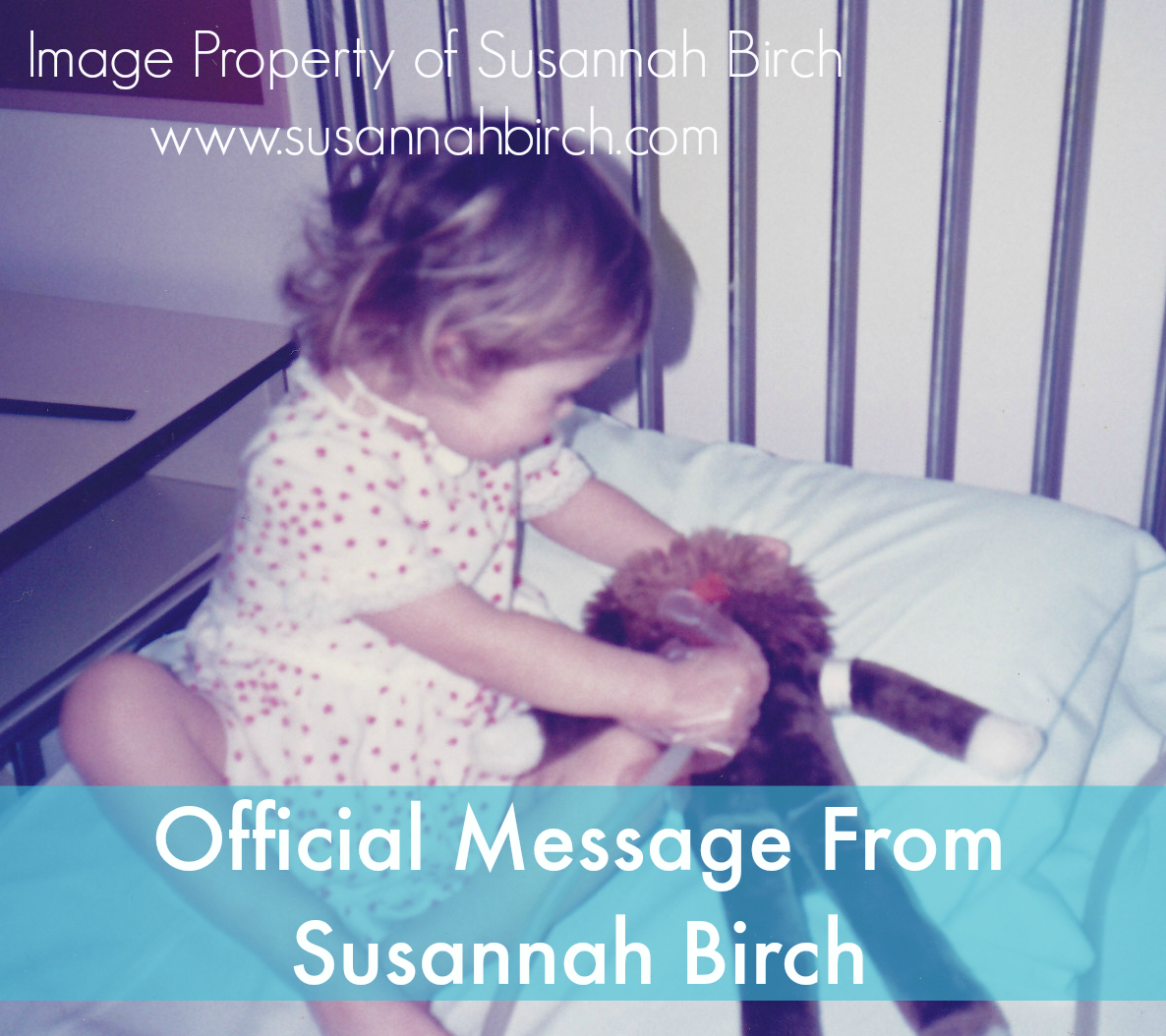 Susannah Birch - The Girl Whose Mother Cut Her Neck. Official message.